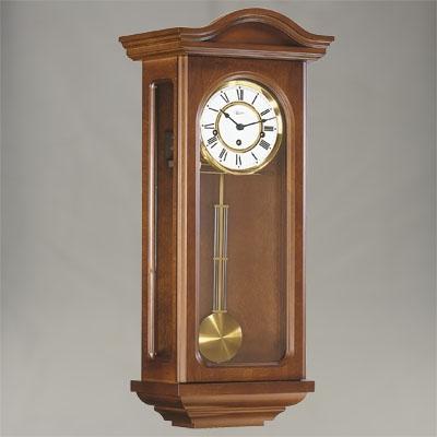 "Wall Clock - ""Northfields"" - 4/4 Chime - Walnut Finish - Hermle"