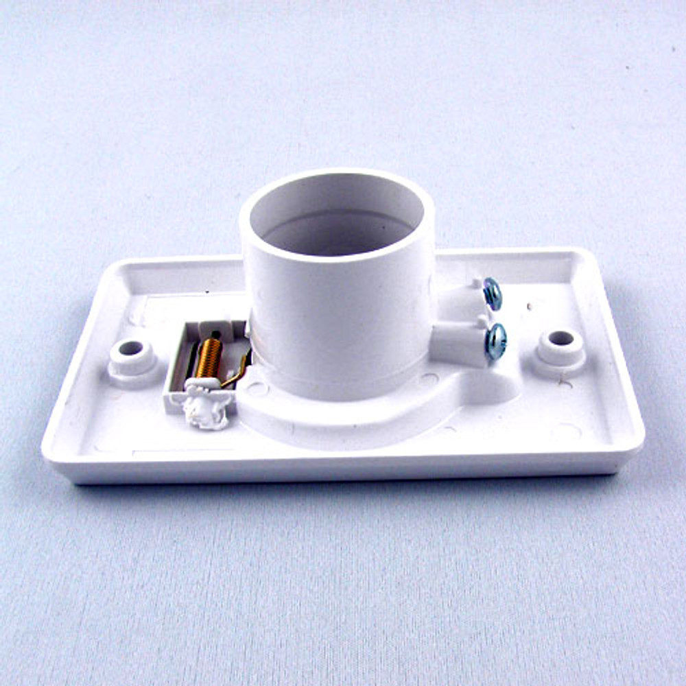 Side view standard size central vacuum inlet valve.