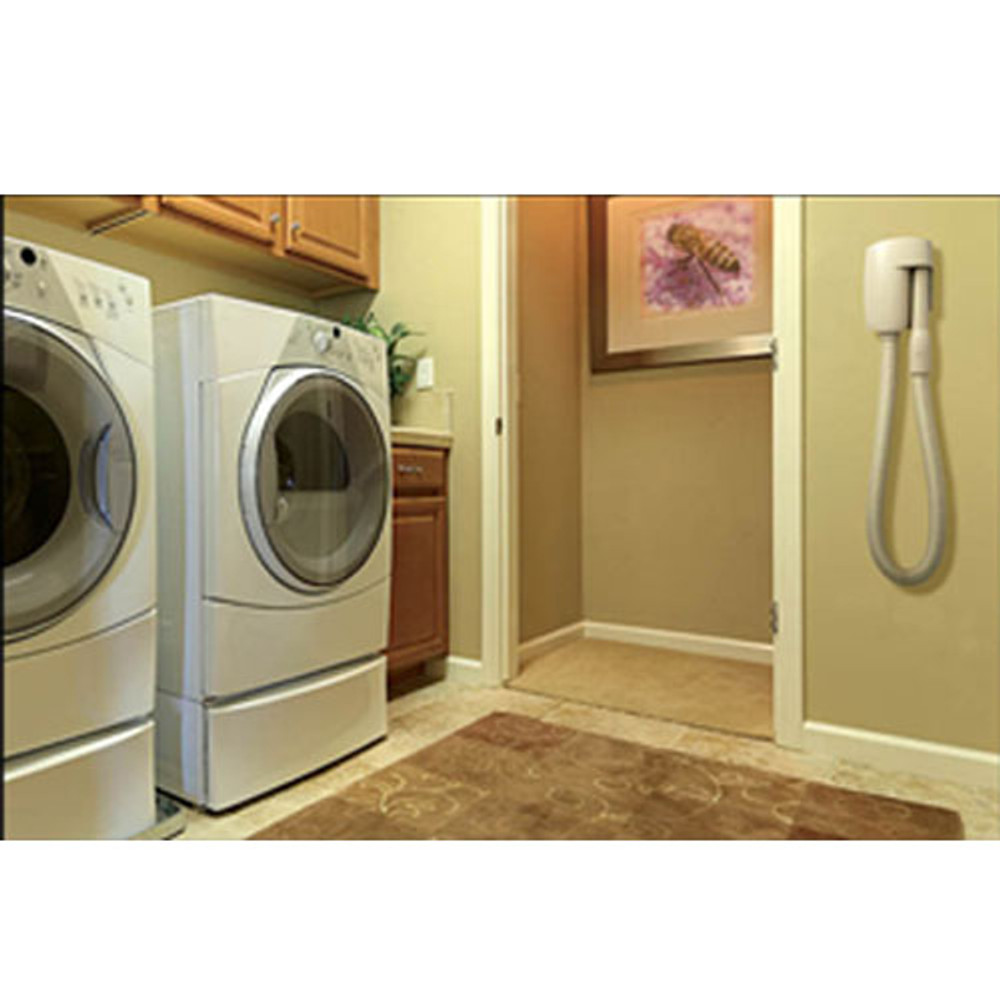 WallyFlex can be used in the laundry room to clean out lint traps