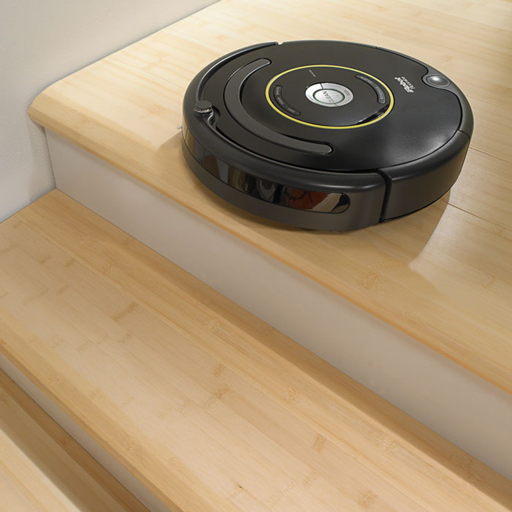 Sensor prevents it from falling down stairs.