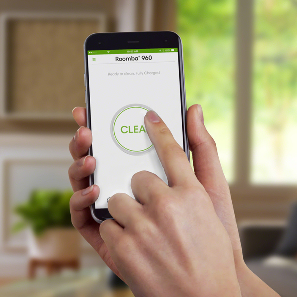 iRobot HOME app for controlling robot vacuum cleaner