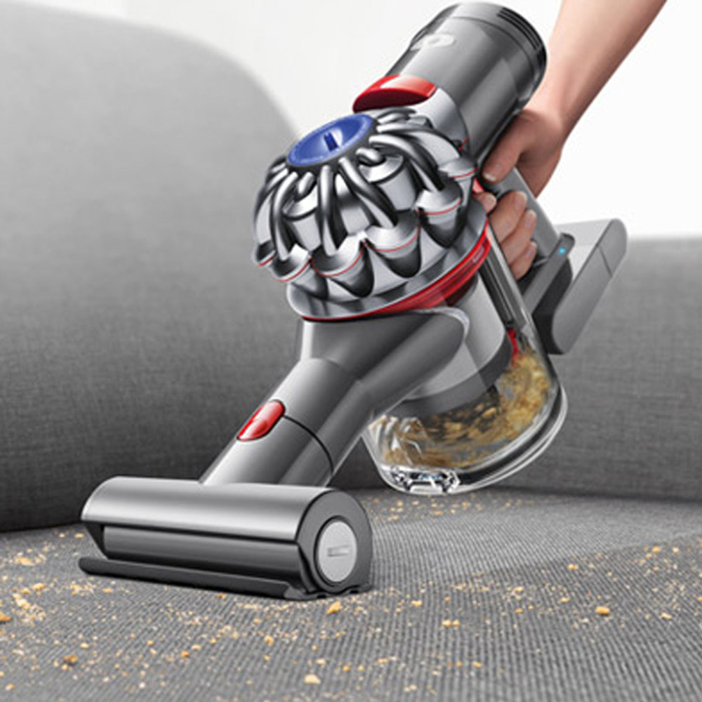 Dyson V7 Trigger Cleans Upholstery and Carpeted Stairs