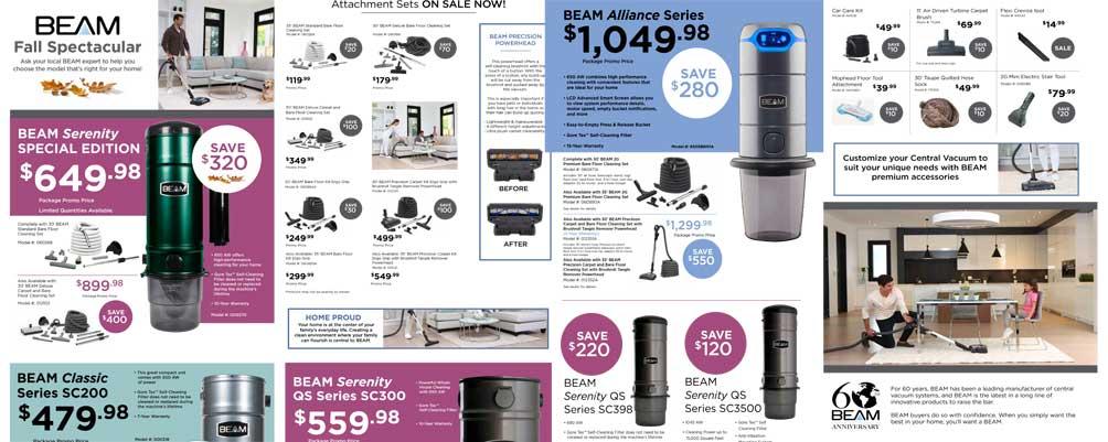 Beam central vacuum fall sale until Nov 30, 2018