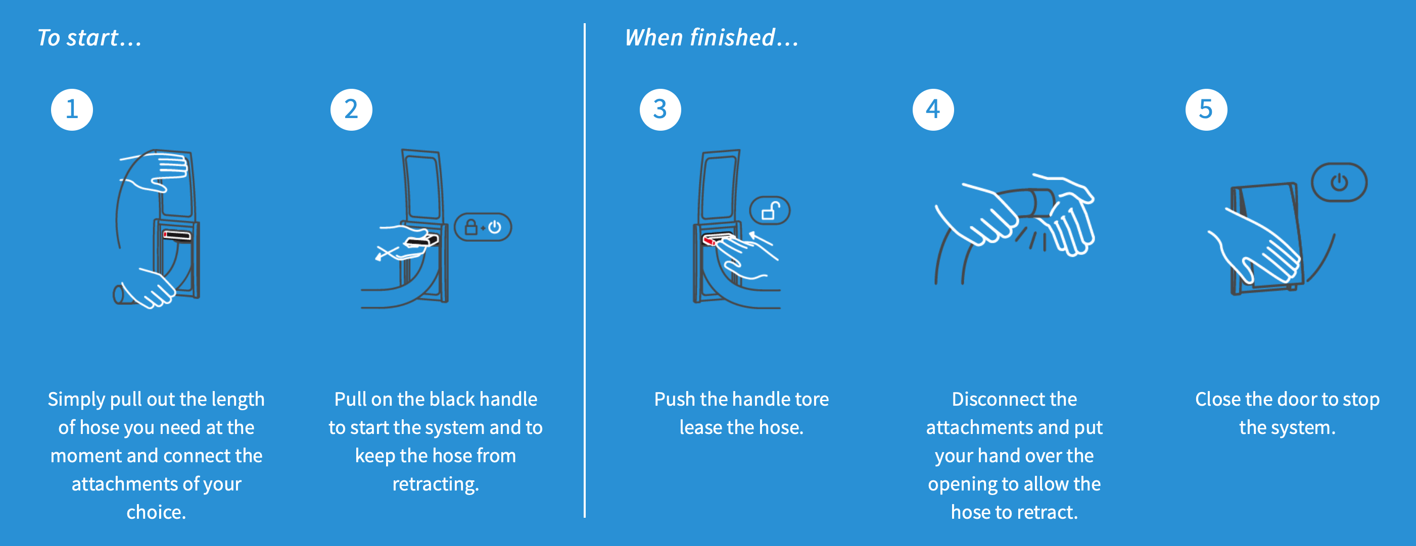 how-does-a-retractable-central-vacuum-hose-work