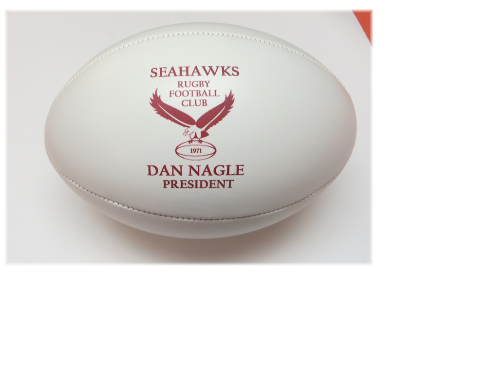 Give yourself the gift of your own personalized rugby ball.