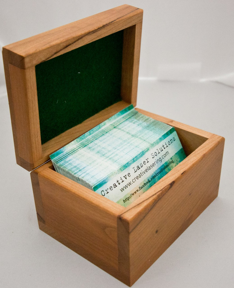 This Personalized Business Card Box is a perfect desk accessory designed to hold and display business cards.