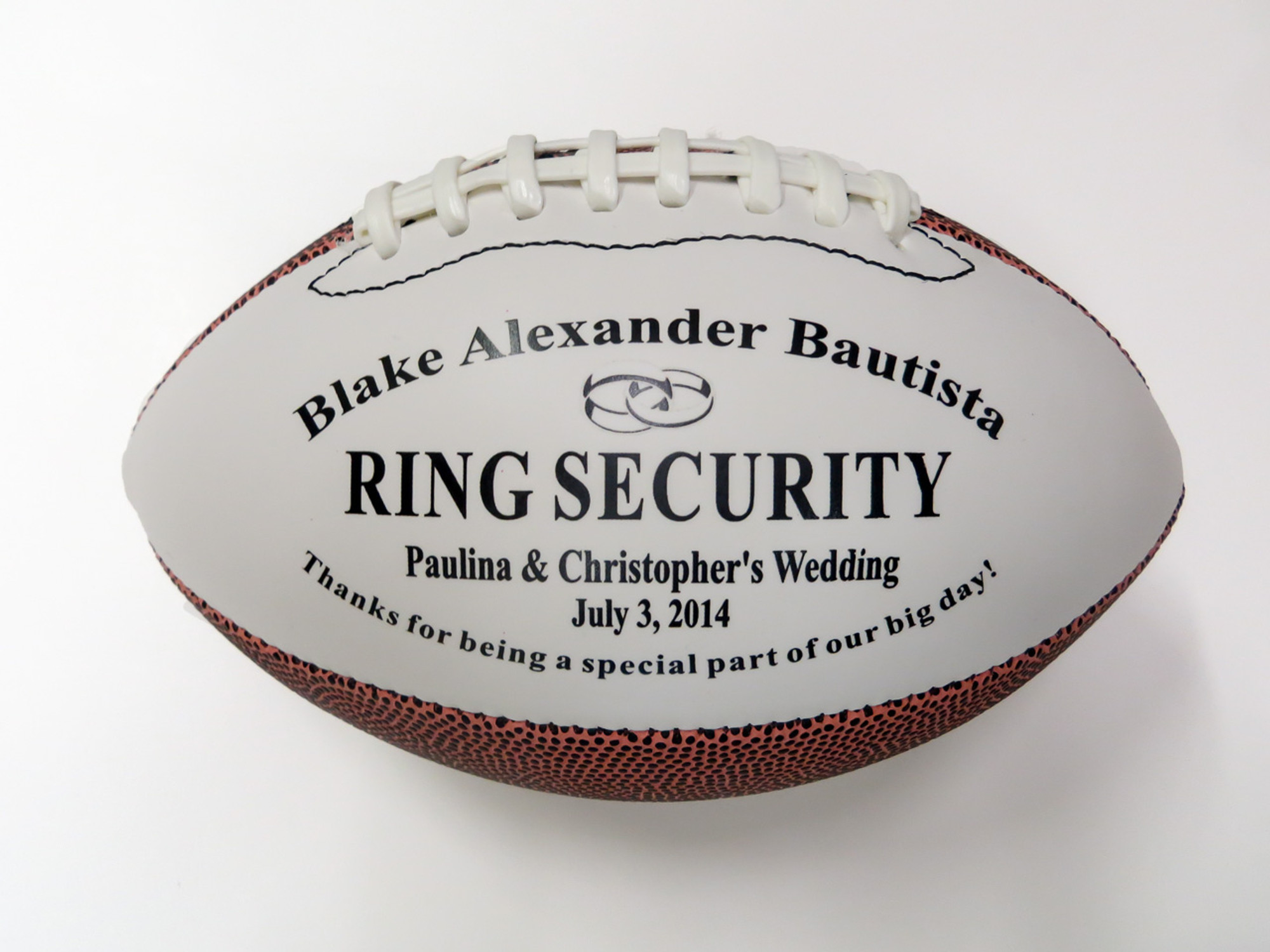 Personalized Wedding Football