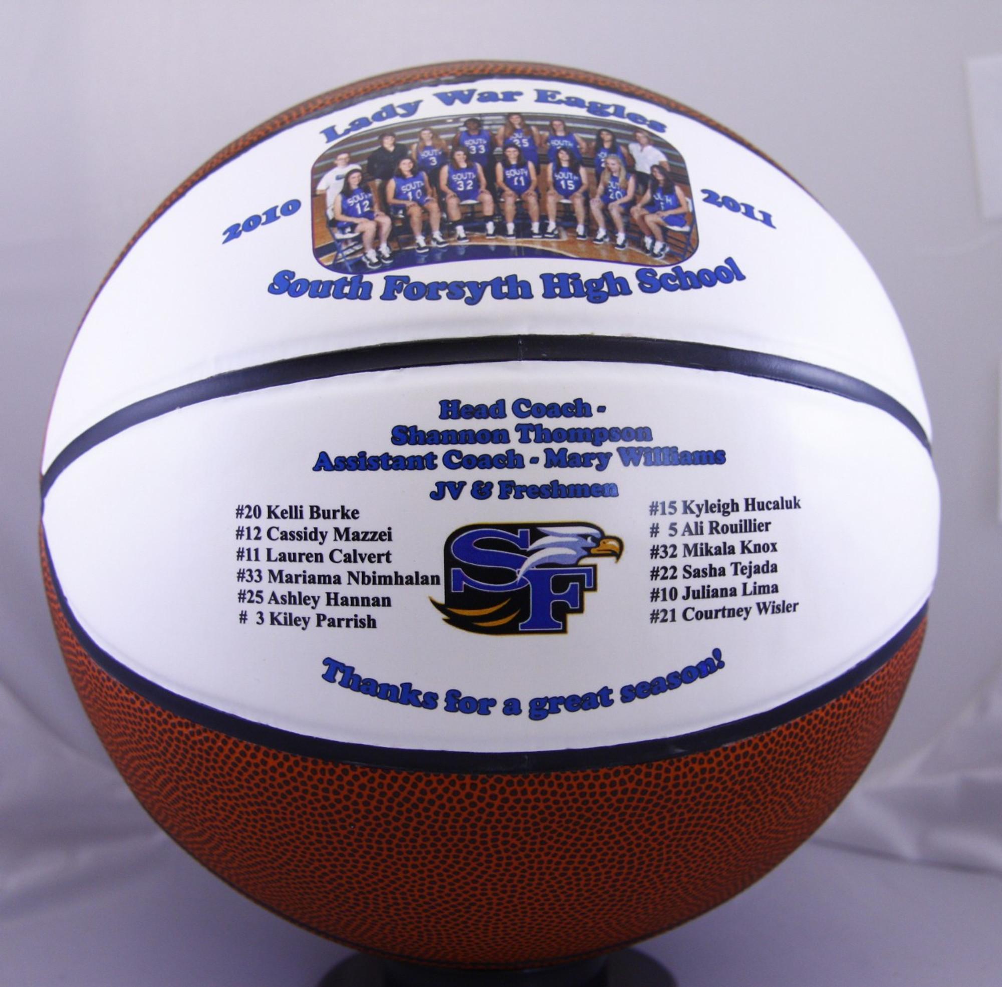 personalized split panel fullsize basketball creative laser solutions