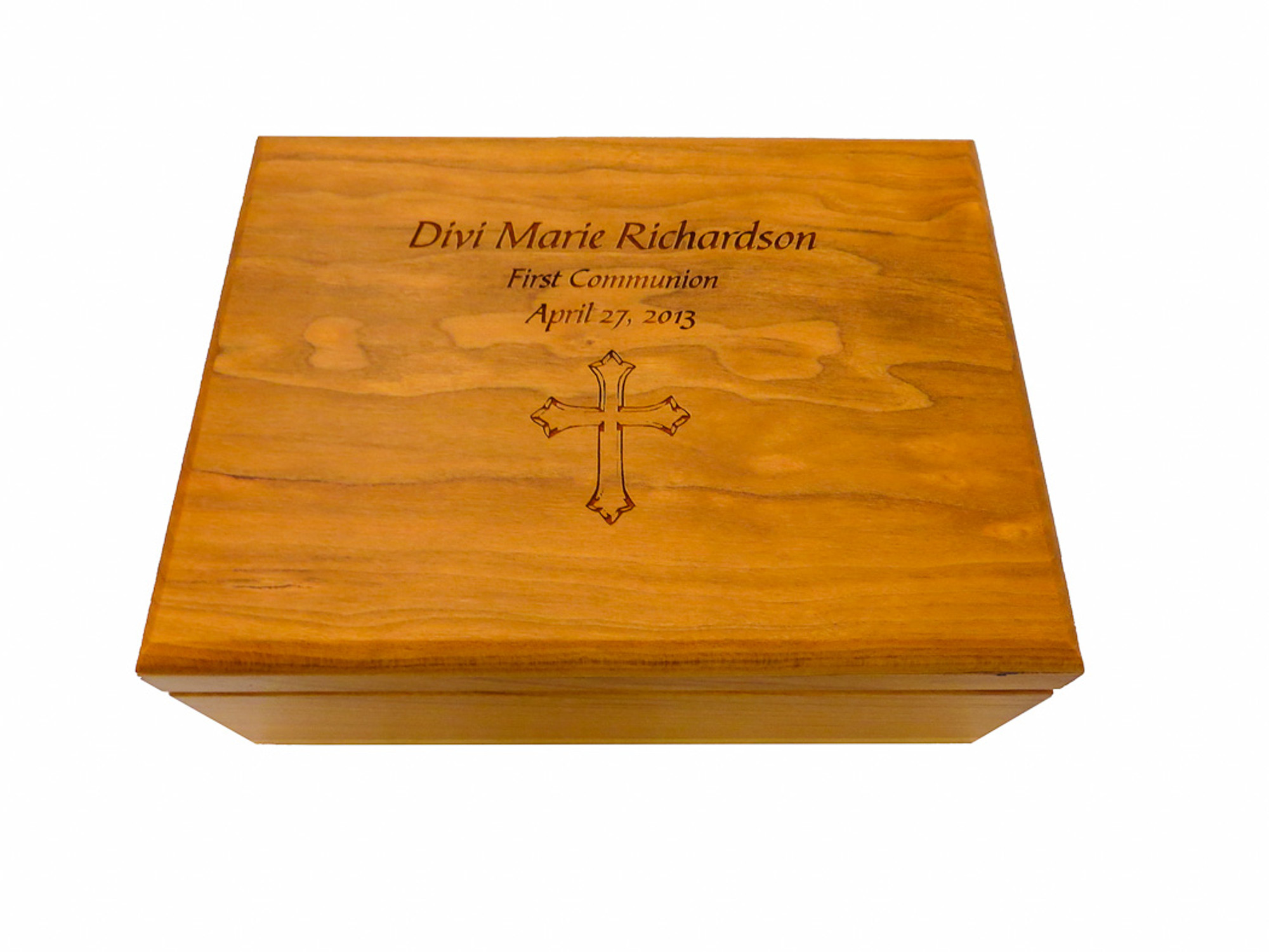 A Custom Laser Engraved Wood Box Can Make Fantastic First Communion Gift