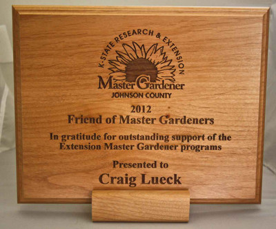 Master Gardner Custom Engraved Wood Plaque