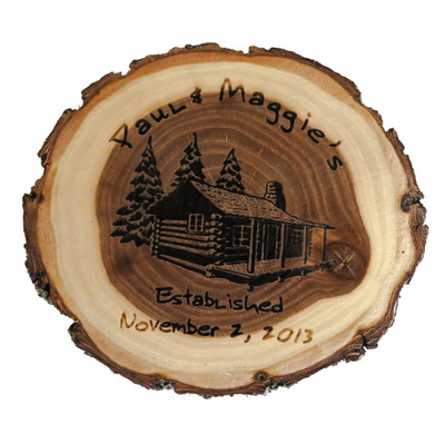 Personalized Old Fashioned Wood Coaster Sets