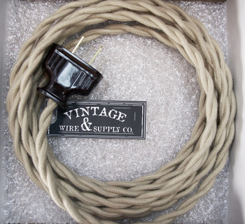 cloth covered rewire kits for lamp fan restorations rh vintagewireandsupply com DIY Lamp Wiring wiring antique lamps