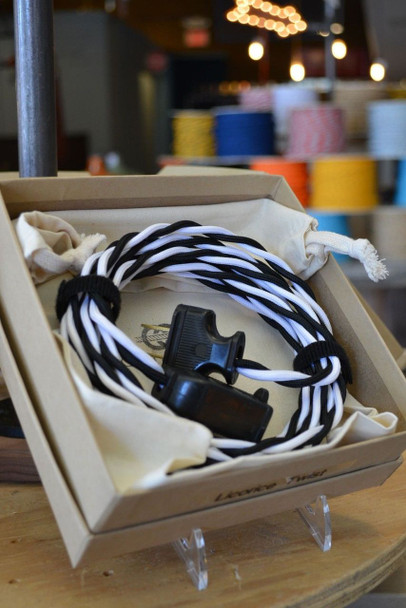 Black & White Rayon Twisted Wire - By the Foot - Small Qty - 18 Gauge