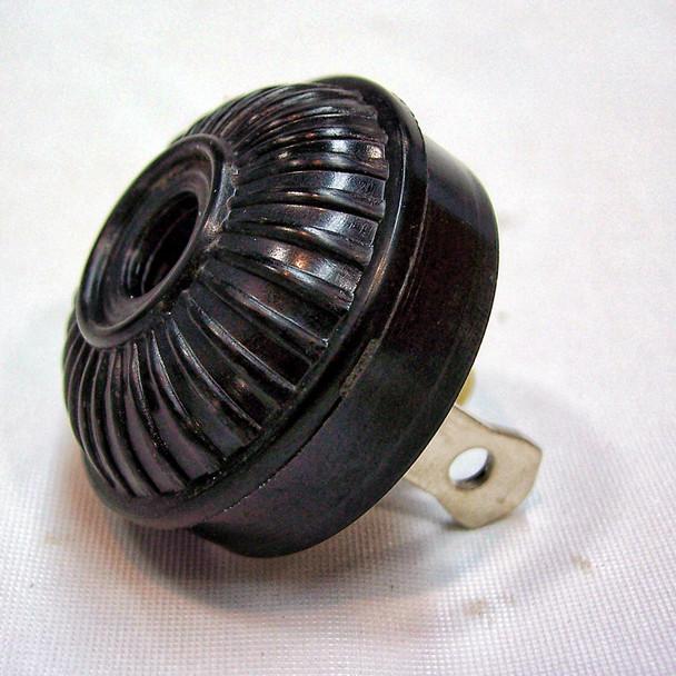 Antique Replica Mid-Century Plug - Black