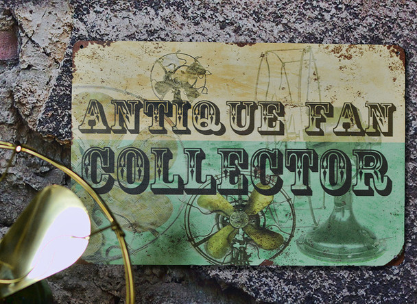 Antique Fan Collector Sign