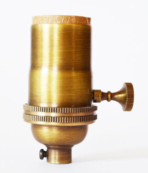 700-Series Socket - Antique Brass Finish