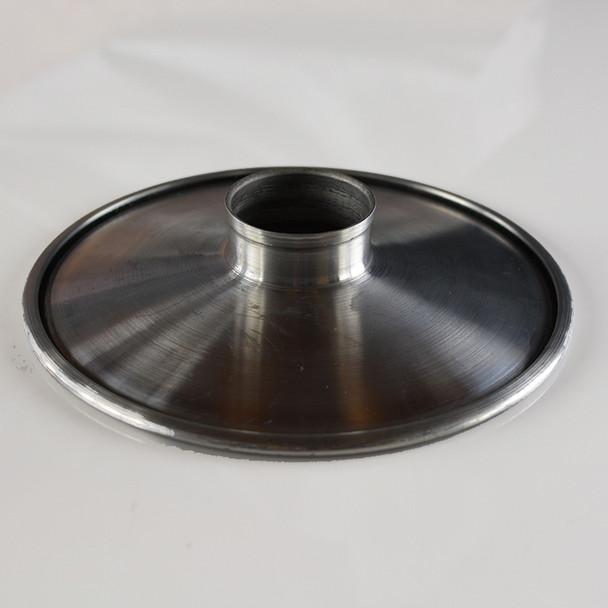 "Unfinished Aluminum Concave Shade 8"""