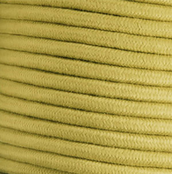 Mustard Cotton Round Wire - By the Foot - Pulley Cord - 18 Gauge