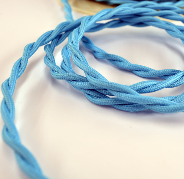 Sky Blue Vintage Cloth-Covered Wire