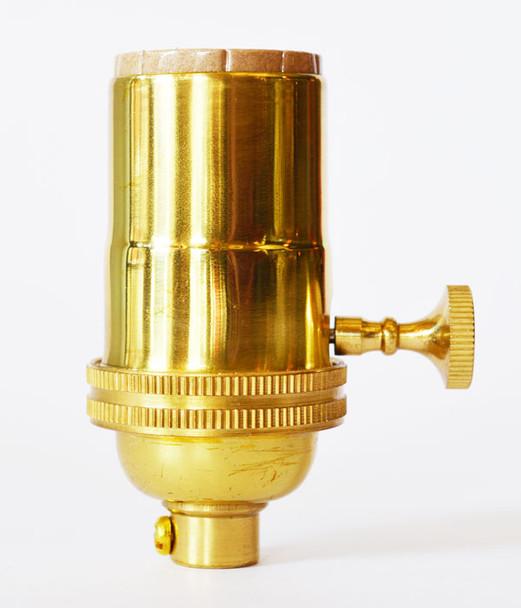 Light Socket Polished Brass