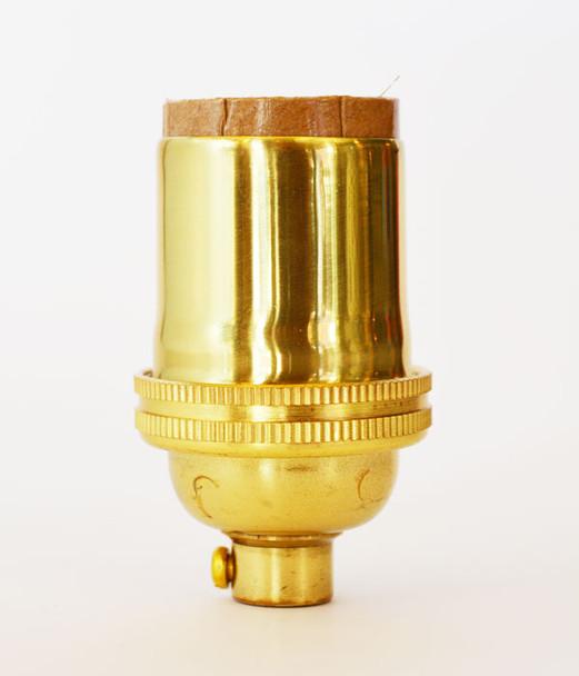 Polished Brass Lamp Socket