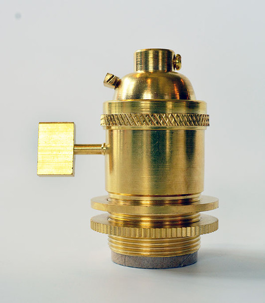 Unfinished Brass UNO Socket