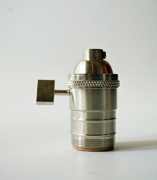 Satin Nickel uno Lamp Socket