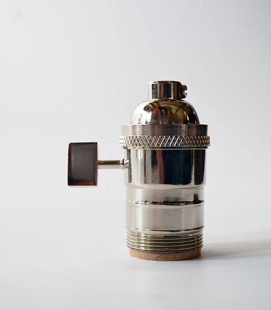 Polished Nickel Lamp Socket