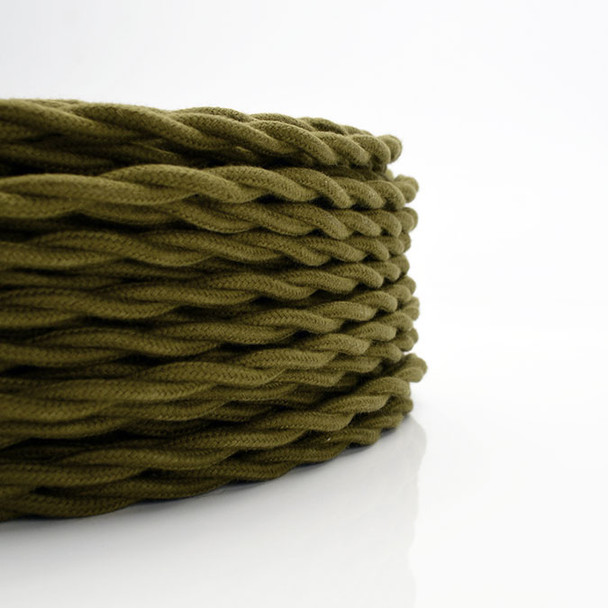 Olive Cotton Cloth Wire