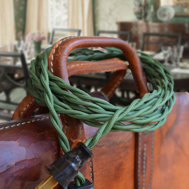 Forest Green Rayon Twisted Wire - By the Foot - Small Qty - 18 Gauge
