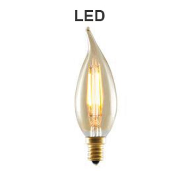 Bulbrite 776503 LED candelabra teardrop bulb