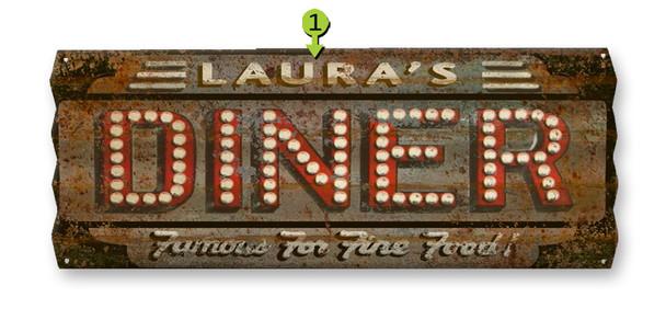 Old Corrugated Metal Sign