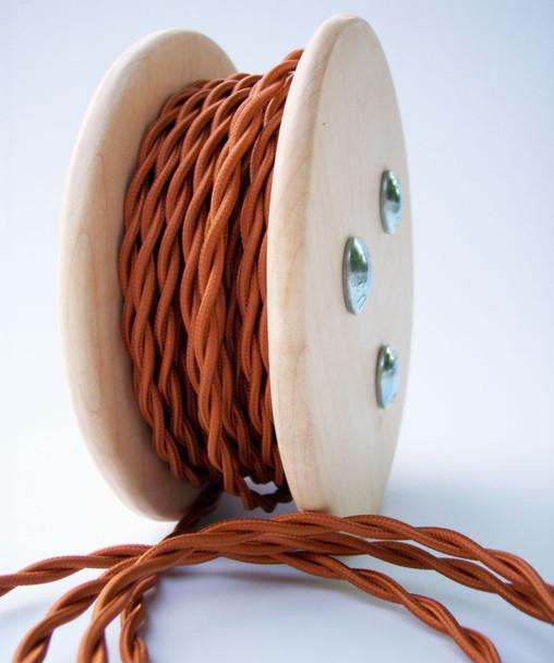 Copper Cloth-Covered Antique Wire
