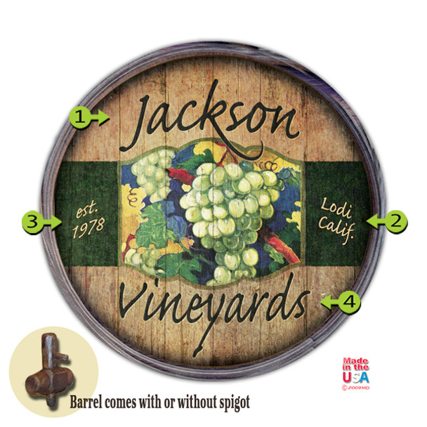 Barrel End Personalized SIgn