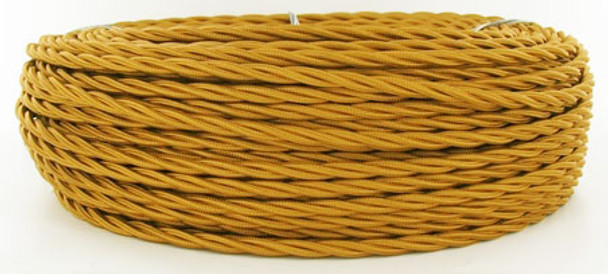 Golden Bronze Cloth-Covered Wire