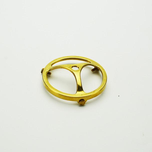 "3-1/4"" Shade Holder - Solid Brass - 3-Spoke Fitter"