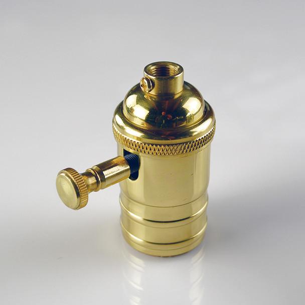 Dimmer Socket - Polished Brass