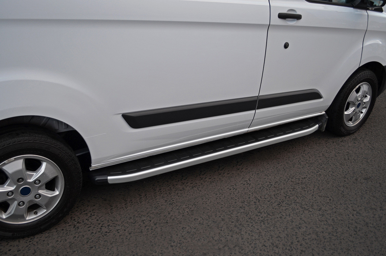 Aluminium Side Steps Bars Running Boards To Fit Lwb Ford Transit Custom 2012