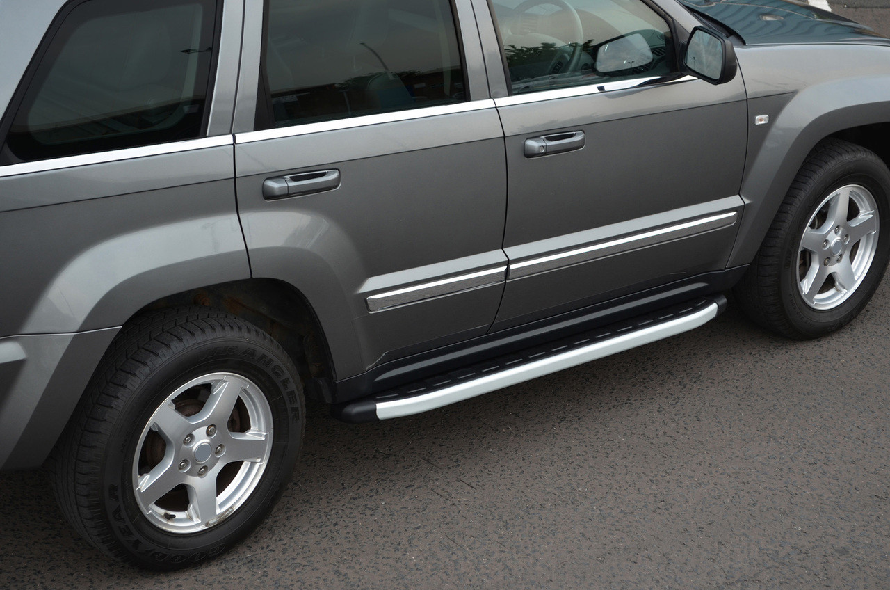 Aluminium Side Steps Bars Running Boards To Fit Jeep Grand