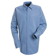 Concealed-Gripper Pocketless Work Shirt