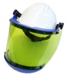 NSA 10 cal/cm² Faceshield with Slotted Hard Hat & Chin Guard