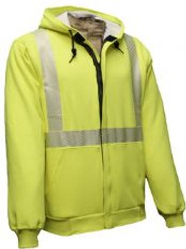 NSA FR Hi-Vis Hooded /Zip Sweatshirt
