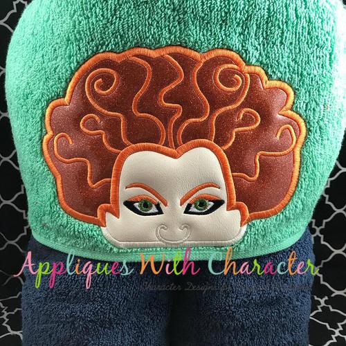 Halloween Sister Peeker Applique Design