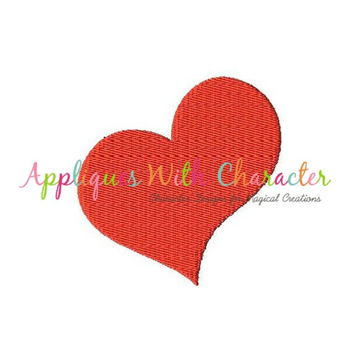 Swish Heart Filled Stitch Embroidery Design
