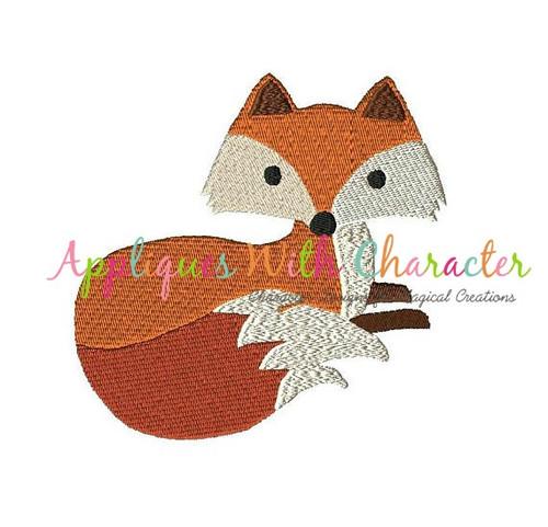 Fox Filled Stitch Embroidery Design