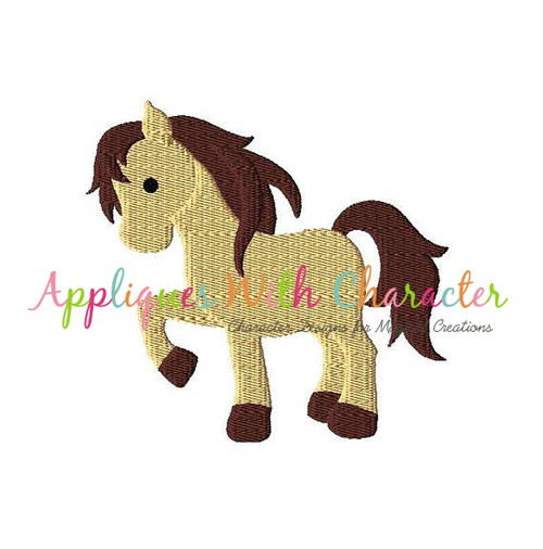 Horse Filled Stitch Embroidery Design