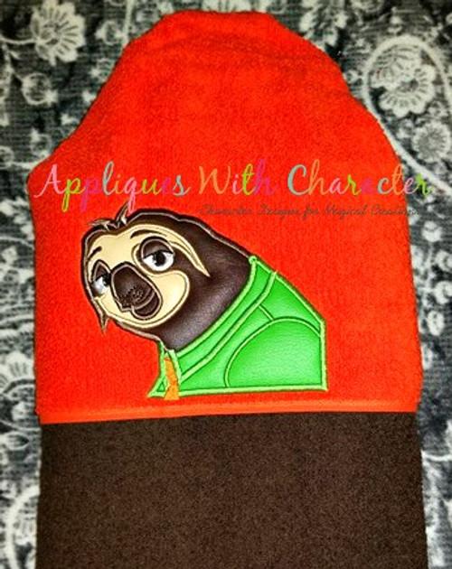 Zoo Sloth Applique Design