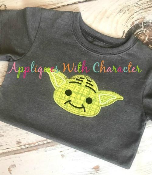 Yoda Star Battles Applique Design