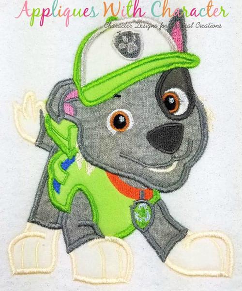 Pup Patrol Rockie Applique Design