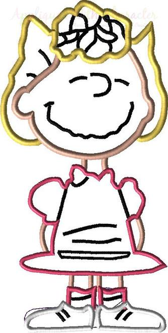 Peanuts Salley Applique Design